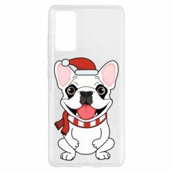 Чехол для Samsung S20 FE New Year's French Bulldog