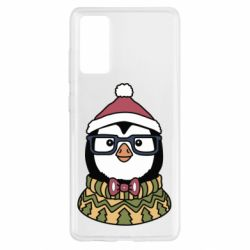 Чехол для Samsung S20 FE New Year's Penguin