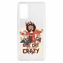 Чехол для Samsung S20 FE One cat away from crazy