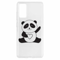 Чохол для Samsung S20 FE Panda and heart