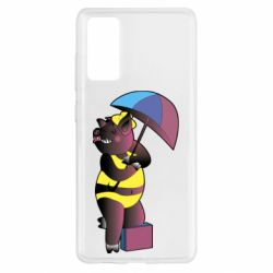 Чохол для Samsung S20 FE Pig with umbrella