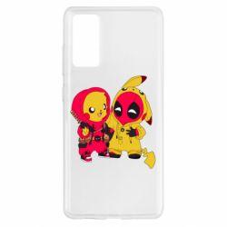 Чехол для Samsung S20 FE Pikachu and deadpool