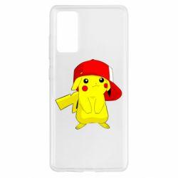 Чехол для Samsung S20 FE Pikachu in a cap