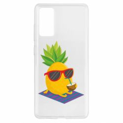 Чохол для Samsung S20 FE Pineapple with coconut