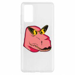 Чохол для Samsung S20 FE Pink dinosaur with glasses head