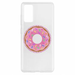 Чохол для Samsung S20 FE Pink donut on a background of patterns