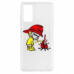 Чохол для Samsung S20 FE Пісяючий хуліган-пожежний