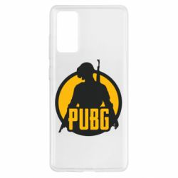 Чехол для Samsung S20 FE PUBG logo and game hero