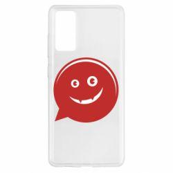 Чехол для Samsung S20 FE Red smile