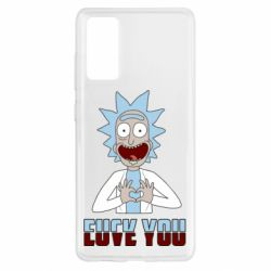 Чохол для Samsung S20 FE Rick and Morty fack and love you