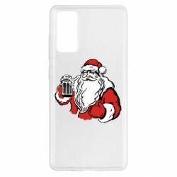 Чехол для Samsung S20 FE Santa Claus with beer