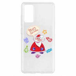 Чехол для Samsung S20 FE Santa says merry christmas