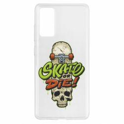 Чохол для Samsung S20 FE Skate or die skull