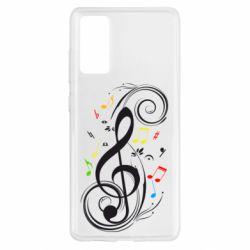 Чехол для Samsung S20 FE Скрипичный ключ