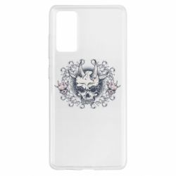 Чохол для Samsung S20 FE Skull with horns and patterns