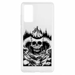 Чохол для Samsung S20 FE Skull with horns in the forest