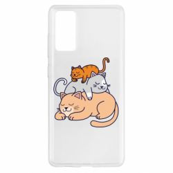 Чехол для Samsung S20 FE Sleeping cats