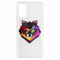 Чехол для Samsung S20 FE Сolorful wolf