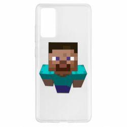 Чехол для Samsung S20 FE Steve from Minecraft