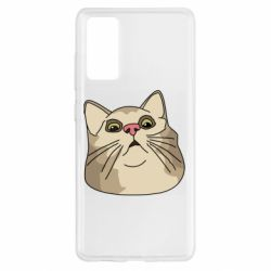 Чехол для Samsung S20 FE Surprised cat