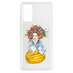 Чохол для Samsung S20 FE Українка в вінку і вишиванці