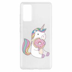Чехол для Samsung S20 FE Unicorn and cake