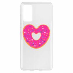 Чехол для Samsung S20 FE Я люблю пончик