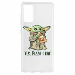 Чехол для Samsung S20 FE Yoda and pizza