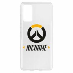 Чехол для Samsung S20 FE Your Nickname Overwatch