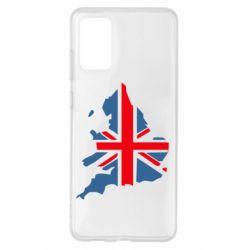Чехол для Samsung S20+ Флаг Англии