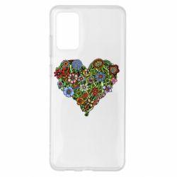 Чохол для Samsung S20+ Flower heart