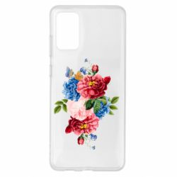 Чохол для Samsung S20+ Flowers and butterfly