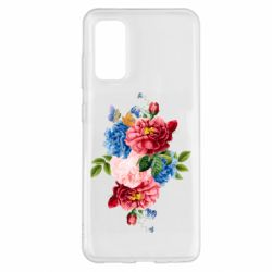 Чохол для Samsung S20 Flowers and butterfly