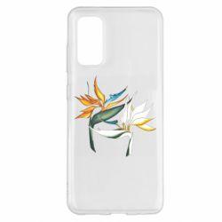 Чехол для Samsung S20 Flowers art painting