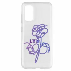 Чехол для Samsung S20 Flowers line bts