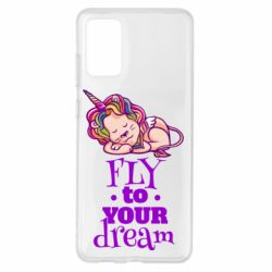 Чохол для Samsung S20+ Fly to your dream and lion