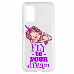 Чохол для Samsung S20 Fly to your dream and lion