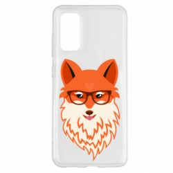 Чехол для Samsung S20 Fox with a mole in the form of a heart