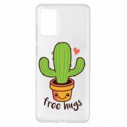 Чохол для Samsung S20+ Free Hugs Cactus