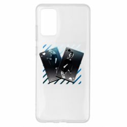 Чехол для Samsung S20+ Gambling Cards The Witcher and Cyrilla