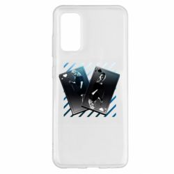 Чехол для Samsung S20 Gambling Cards The Witcher and Cyrilla