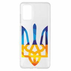 Чехол для Samsung S20+ Герб из ломанных линий