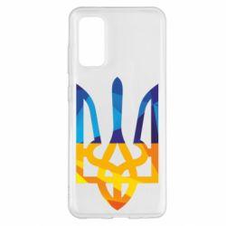 Чехол для Samsung S20 Герб из ломанных линий