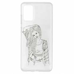 Чехол для Samsung S20+ Girl with dreadlocks