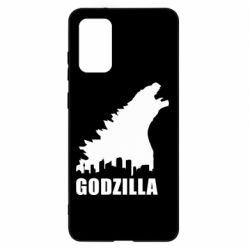 Чохол для Samsung S20+ Godzilla and city