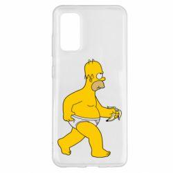 Чохол для Samsung S20 Гомер Сімпсон в трусиках