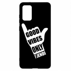 Чехол для Samsung S20+ Good vibes only Fendi
