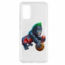 Чехол для Samsung S20 Gorilla and basketball ball