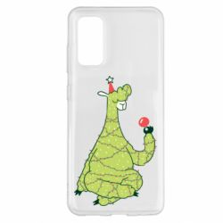 Чехол для Samsung S20 Green llama with a garland