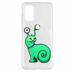 Чехол для Samsung S20 Green monster snail